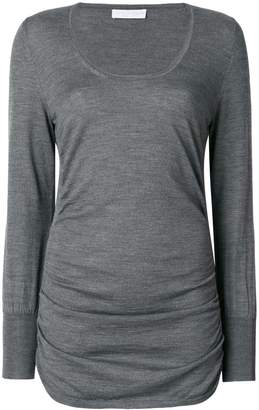 Le Tricot Perugia ruched sides sweater