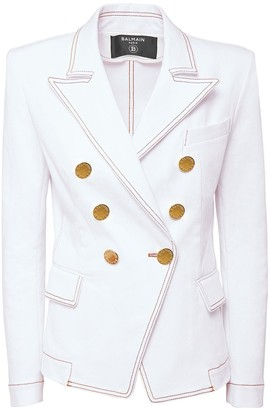Balmain Stretch Cotton Denim Jacket