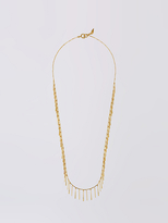 Diane von Furstenberg Gold Crystal Long Stick Necklace