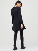 Very Cotton JacquardMini Dress - Black