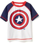 Old Navy Marvel Comics Captain America Rashguard for Toddler Boys