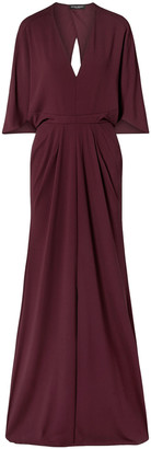Narciso Rodriguez Cape-effect Stretch-crepe Gown