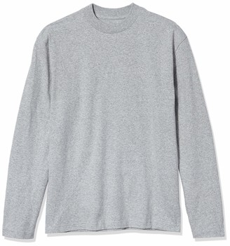 American Apparel Men's Army Jersey Long Sleeve Mockneck T-Shirt