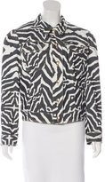 Just Cavalli Zebra Print Button-Up Jacket