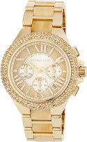 MICHAEL Michael Kors 43mm Camille Glitz Chronograph Bracelet Watch, Gold