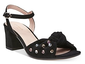 Kate Spade Women's Emilia Crystal Embellished Block Heel Sandals