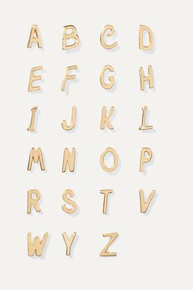 Alison Lou Letter 14-karat Gold Earring - D