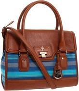 Cole Haan Vintage Valise Brooke Flap (Black/Black) - Bags and Luggage
