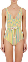 Lisa Marie Fernandez Women's Yasmin Striped Seersucker One-Piece Swimsuit