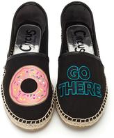 Black Donut 'Go There' Leni Espadrille