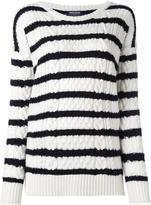 Woolrich round neck striped jumper