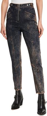 IRO Briana Acid Wash High-Rise Jeans
