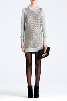 Diane von Furstenberg Danette Sequin Sweater Dress In Grey Melange/grey