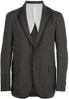 08sircus bi-colour striped blazer
