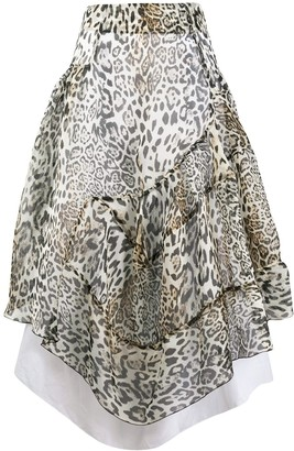 Ermanno Scervino High-Waisted Leopard Skirt