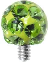 Body Candy 4mm Sparkling Ferido Ball Dermal Top