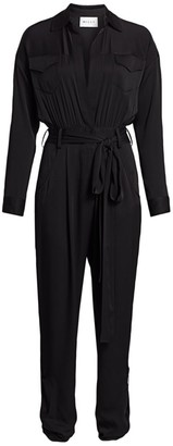 Milly Stretch Silk Mechanic Jumpsuit