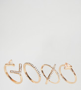Aldo Amilina Cut Out Stacking Rings