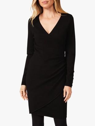 Phase Eight Maisie Wrap Mini Dress, Black