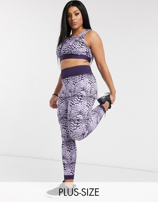 Wolfwhistle Wolf & Whistle Curve Eco leggings in purple tie dye