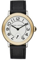 Marc by Marc Jacobs Riley Black Leather And Stainless Steel Watch