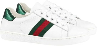 Gucci White And Green Sneakers