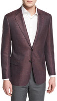Armani Collezioni G-Line Textured Wool-Blend Sport Jacket, Red