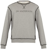 J.W.Anderson Logo-print cotton-jersey sweatshirt