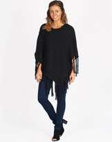 Freez Cabled Poncho