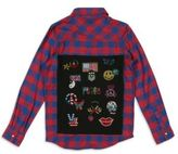Butter Shoes Girl's Bedazzled Plaid Shirt