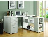 Monarch Specialties Hollow-Core Left or Right Facing Desk in White