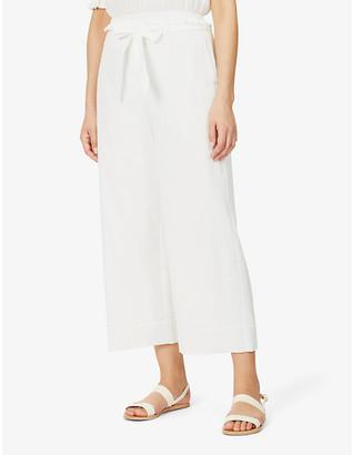 Peony Swimwear Vacation wide-leg mid-rise organic-cotton trousers
