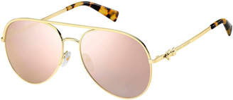 Marc Jacobs The Daisy 2S Mirrored Aviator Sunglasses
