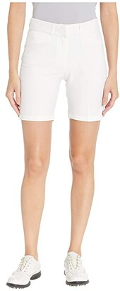 adidas Club 7 Solid Shorts (White) Women's Shorts