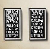 Subway Sign Art Fulton