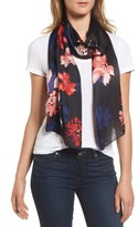 Vince Camuto Women's Floral Print Brushed Silk Scarf