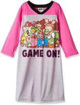 AME Sleepwear Nintendo Super Mario Nightgown for girls