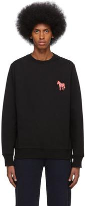 Paul Smith Black Embroidered Zebra Sweatshirt