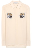 Stella McCartney Embroidered Silk Blouse