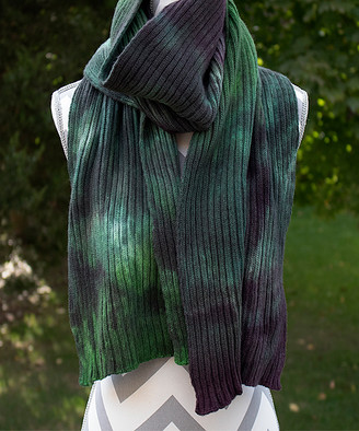 Zen Yarn Garden Women's Accent Scarves - Old Quilt Hand-Dyed Double-Ribbed Scarf
