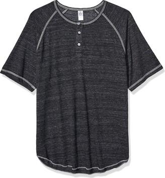 Alternative Men's Jersey Raglan Henley t-Shirt