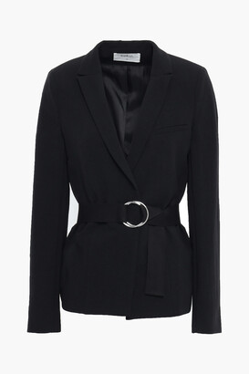 BA&SH Sunny Belted Textured-crepe Blazer