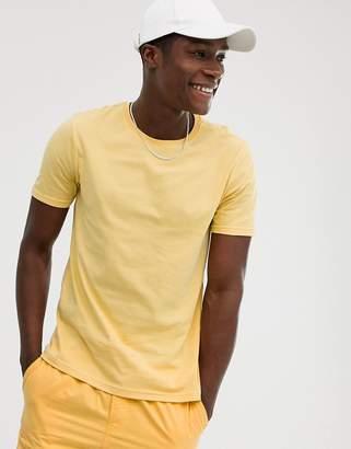 Benetton plain crewneck t-shirt-Yellow