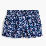 J.Crew Floral pull-on short