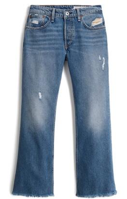 Rag & Bone Rosa Distressed High Waist Ankle Flare Jeans