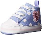 Gerber Purple Hightop With Glitter Heart Sneaker (Infant)