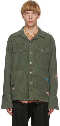 Greg Lauren Green Boxy Studio Jacket