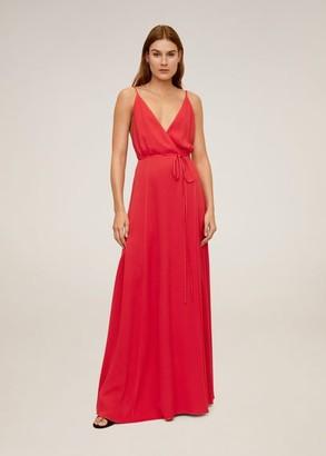 MANGO Lace long dress