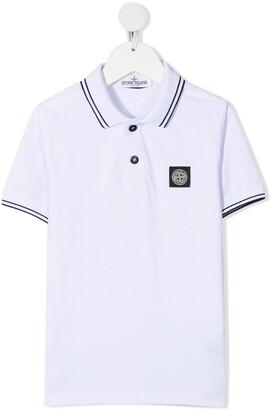 Stone Island Junior Logo-Patch Polo Shirt