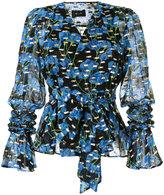 G.V.G.V. flower print wrap blouse